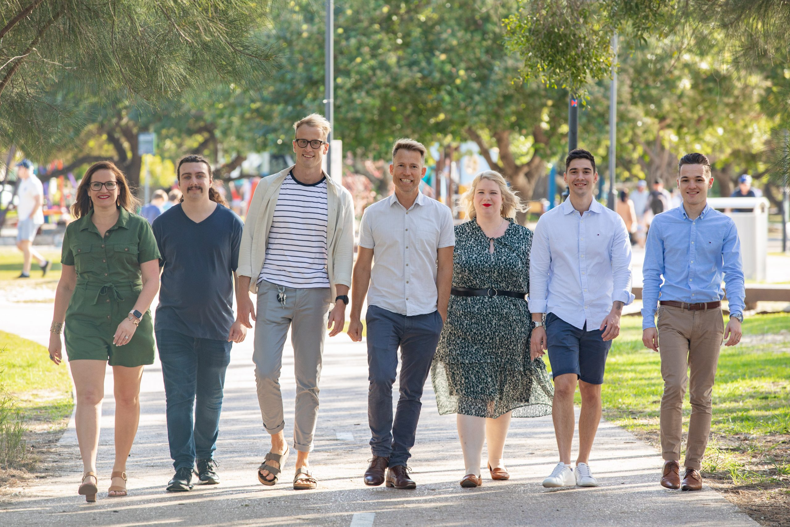 Bing Ads - the DNHQ team walking alongside each other