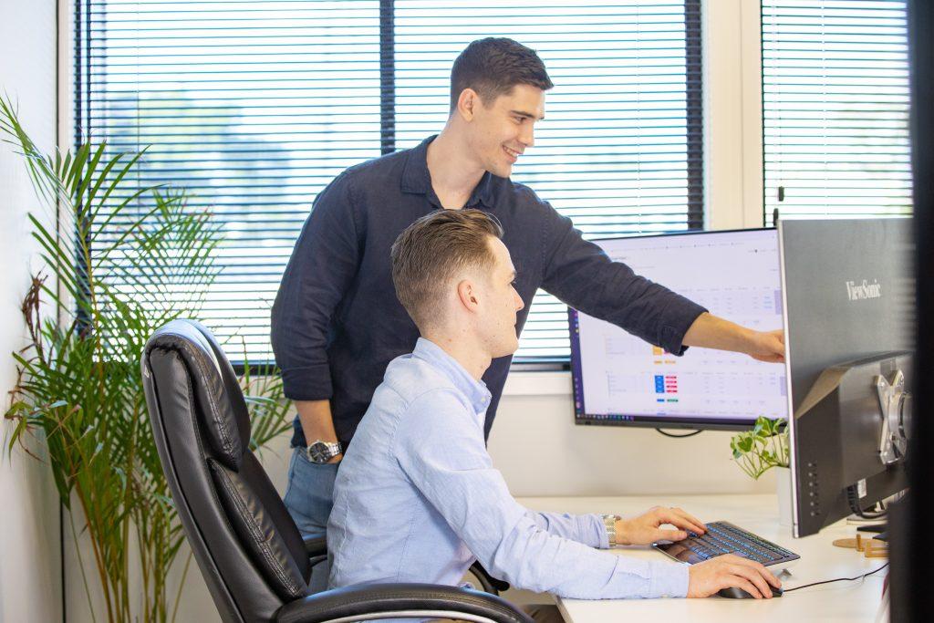 SEO Newcastle - men looking at screen