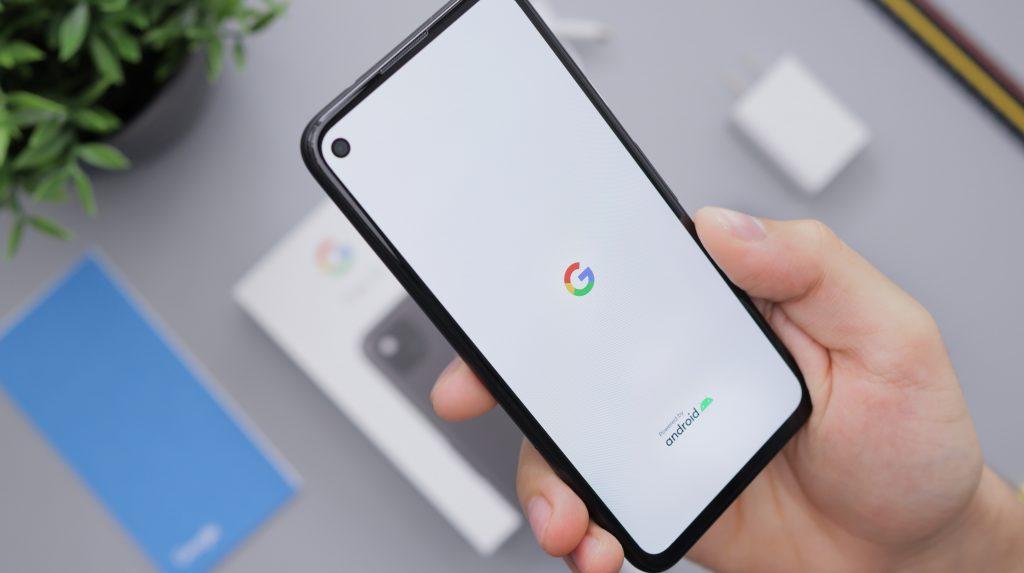 INTERNET MARKETING - person using phone on Google