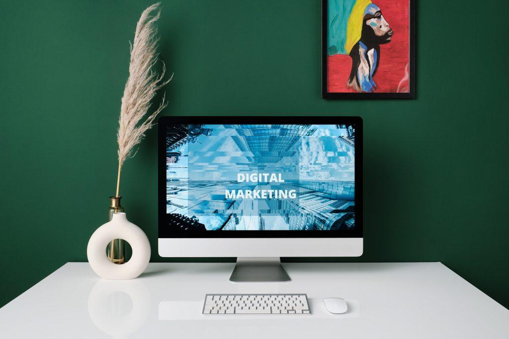 Digital Marketing agency melbourne - pc on white desk