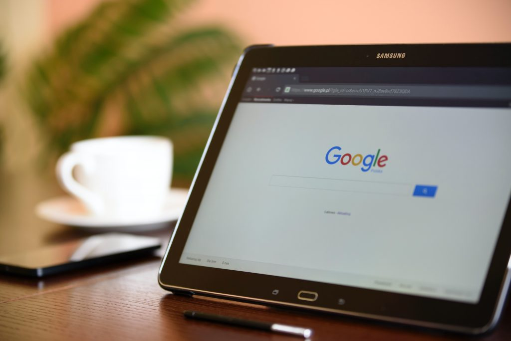 email marketing - tablet on Google